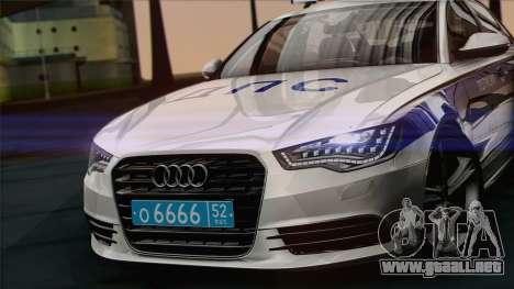 Audi A6 DPS para GTA San Andreas vista posterior izquierda