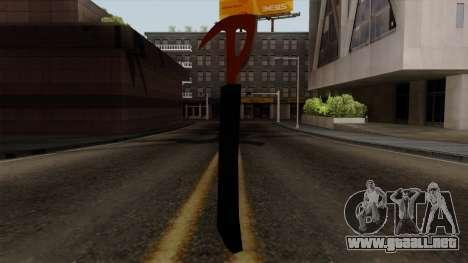 El hacha Del Bosque para GTA San Andreas segunda pantalla