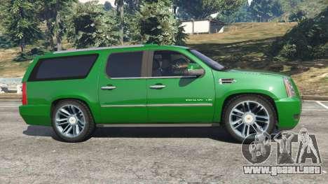 GTA 5 Cadillac Escalade ESV 2012 vista lateral izquierda
