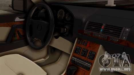 Mercedes-Benz W140 500SE 1992 para la visión correcta GTA San Andreas
