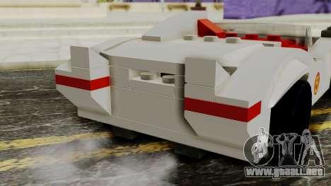 Lego Mach 5 para GTA San Andreas vista hacia atrás