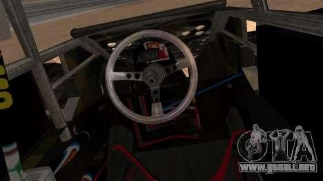 Camo Flip Car para GTA San Andreas vista posterior izquierda
