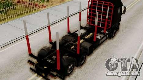 Iveco Truck from ETS 2 v2 para GTA San Andreas vista hacia atrás