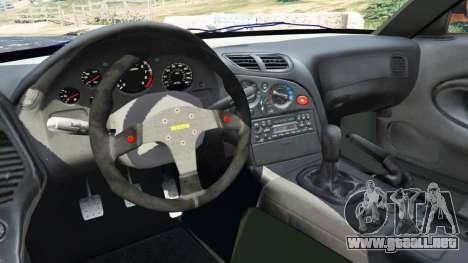 GTA 5 Mazda RX-7 Veilside Fortune v0.1 vista lateral trasera derecha