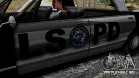 Police Savanna 2.0 para la visión correcta GTA San Andreas