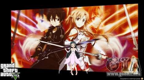 GTA 5 Pantallas de carga en estilo anime segunda captura de pantalla