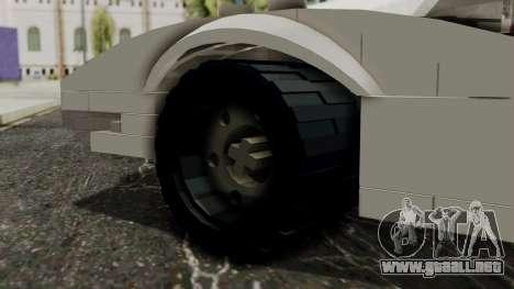 Lego Mach 5 para GTA San Andreas vista posterior izquierda