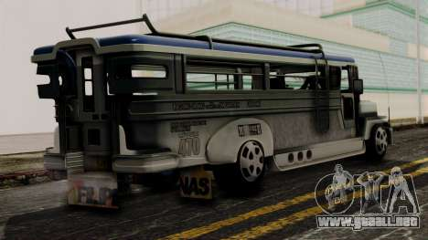 Milwaukee Motors Custom Jeepney para GTA San Andreas left