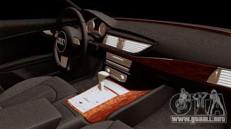Audi A7 Sportback 2009 para la visión correcta GTA San Andreas