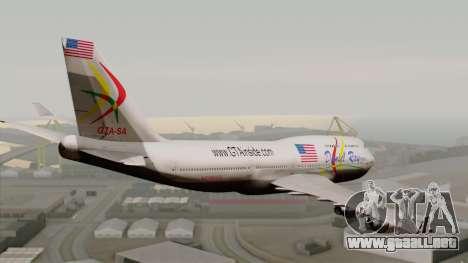 Boeing 747-400 Friendship Tag para GTA San Andreas left