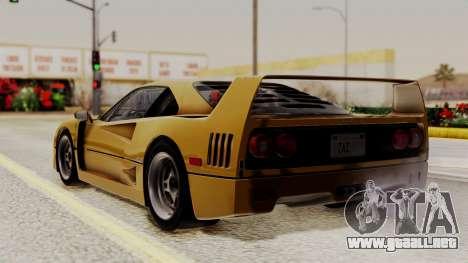 Ferrari F40 1987 HQLM para GTA San Andreas left