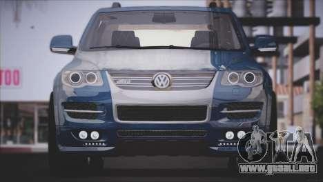 Volkswagen Touareg R50 2008 para GTA San Andreas vista posterior izquierda