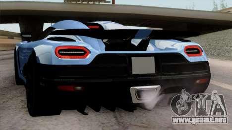Koenigsegg Agera R 2014 Carbon Wheels para las ruedas de GTA San Andreas