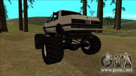 Willard Monster para GTA San Andreas vista hacia atrás