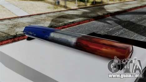 Police Savanna 2.0 para GTA San Andreas vista posterior izquierda