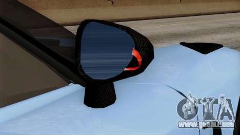 Koenigsegg Agera R 2014 Carbon Wheels para la vista superior GTA San Andreas