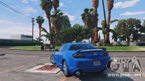 GTA 5 Mazda RX-8 R3 v0.1 vista lateral izquierda trasera