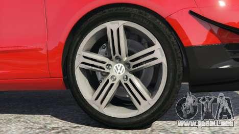 GTA 5 Volkswagen Fox v1.1 vista lateral trasera derecha