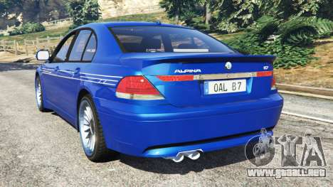 GTA 5 BMW B7 (E65) Alpina vista lateral izquierda trasera