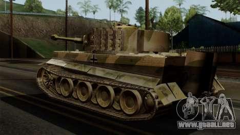 Panzerkampfwagen VI Ausf. E Tiger No Interior para GTA San Andreas left