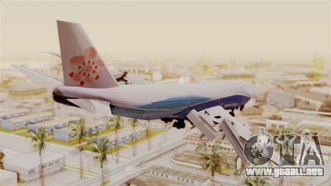 Boeing 747-200 China Airlines Dreamliner para GTA San Andreas left