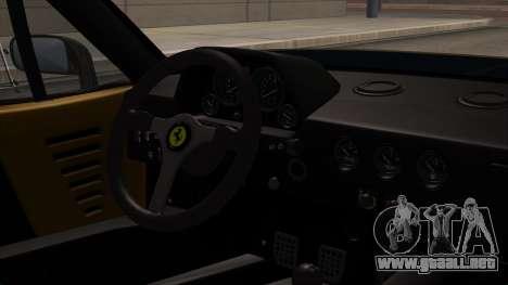 Ferrari F40 1987 HQLM para la visión correcta GTA San Andreas