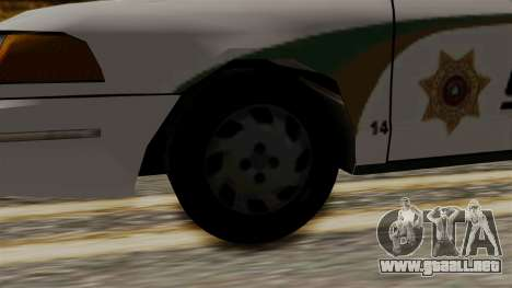 Ford Crown Victoria LP v2 Sheriff New para GTA San Andreas vista posterior izquierda