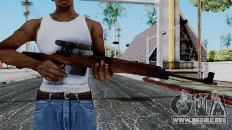 Gewehr 43 ZF from Battlefield 1942 para GTA San Andreas tercera pantalla