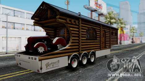 Scania Showtrailer Cabaña para GTA San Andreas left