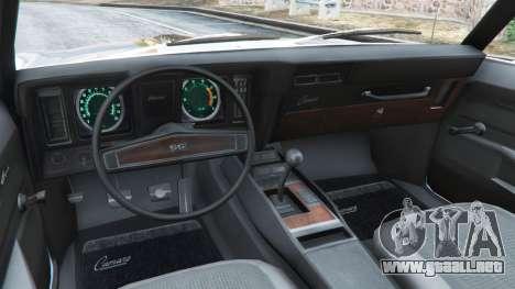 GTA 5 Chevrolet Camaro SS 350 1969 vista lateral trasera derecha
