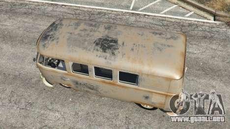 GTA 5 Volkswagen Transporter 1960 rusty [Beta] vista trasera