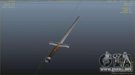 Espada Excalibur para GTA 5