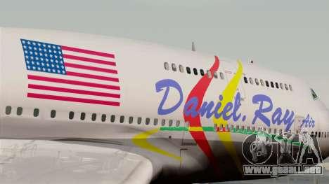 Boeing 747-400 Friendship Tag para GTA San Andreas vista hacia atrás