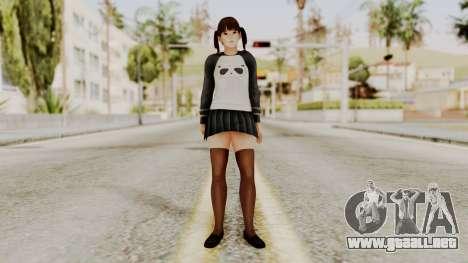 DOA 5 LeiFang Panda T-shirt para GTA San Andreas segunda pantalla