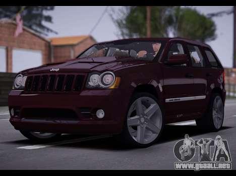 Jeep Grand Cherokee SRT8 2008 para GTA San Andreas left