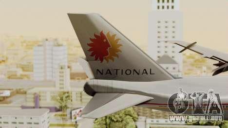 Boeing 747-100 National Airlines para GTA San Andreas vista posterior izquierda