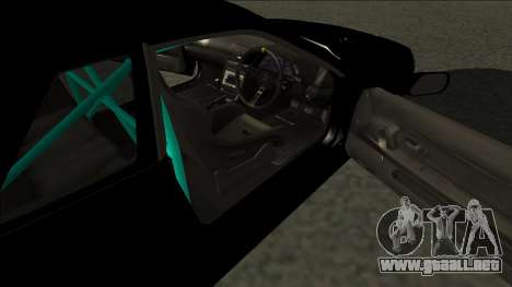 Nissan Skyline R32 Drift Monster Energy para GTA San Andreas vista posterior izquierda