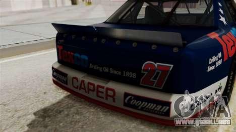 Chevrolet Lumina NASCAR 1992 para GTA San Andreas vista hacia atrás