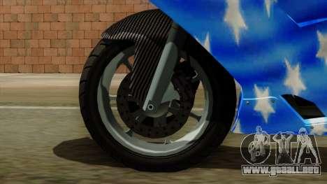 Bati America Motorcycle para GTA San Andreas vista posterior izquierda
