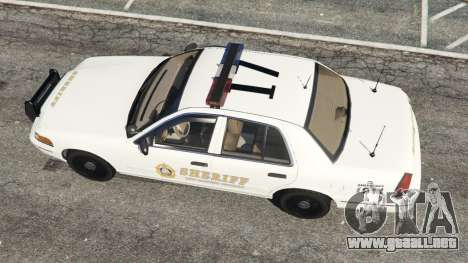 GTA 5 Ford Crown Victoria 1999 Sheriff v1.0 vista trasera