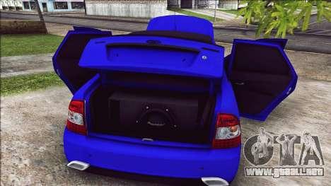 VAZ 2170 Estilo Vip para GTA San Andreas vista hacia atrás