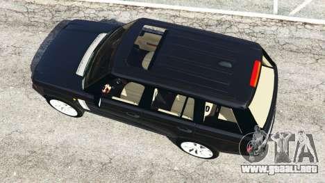 GTA 5 Range Rover Supercharged vista trasera