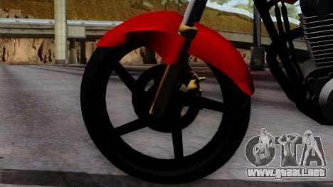 Honda Twister 2014 para GTA San Andreas vista posterior izquierda