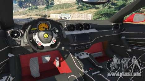 GTA 5 Ferrari FF vista lateral trasera derecha
