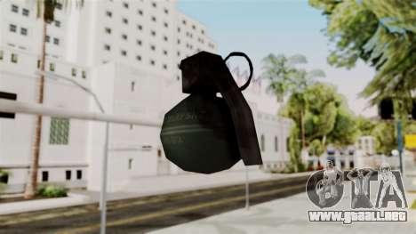Frag Grenade from Delta Force para GTA San Andreas tercera pantalla
