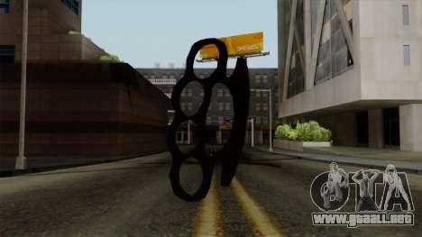 Nueva nudillos de bronce para GTA San Andreas segunda pantalla