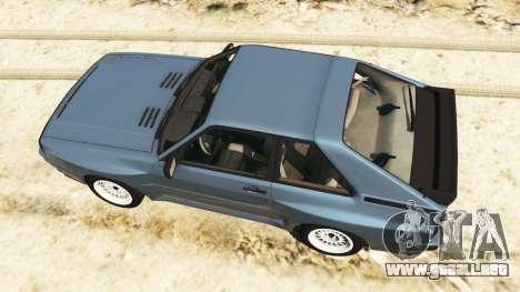 GTA 5 Audi Sport quattro v1.1 vista trasera