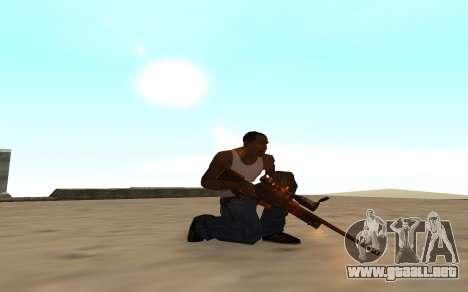 Nitro Weapon Pack para GTA San Andreas sucesivamente de pantalla