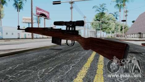 Gewehr 43 ZF from Battlefield 1942 para GTA San Andreas segunda pantalla