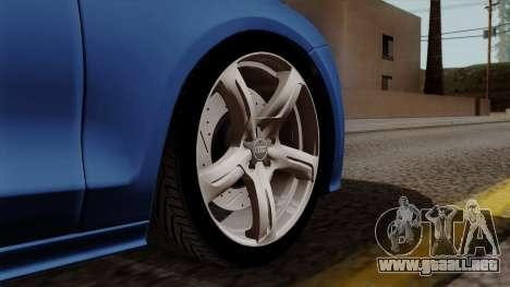 Audi A7 Sportback 2009 para GTA San Andreas vista posterior izquierda